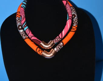 Color Block Two Strand Necklace
