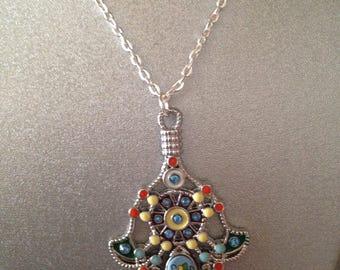 Hamsa Hand  Necklace, Hamsa Hand Pendant Necklace