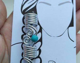 2 Hair Bead Dreadlocks Hair Accessories Hair Jewelry Viking Jewelry Viking Beads Beard jewelry Viking jewelry Viking hair beads  Beard beads