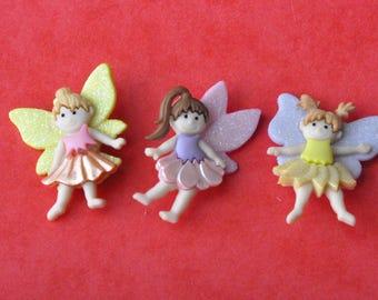 """Dress it up """"flower fairies"""" button set"""