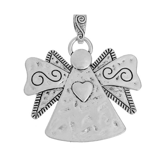 Angel pendant 2 beautiful angel pendants silver guardian like this item aloadofball Gallery