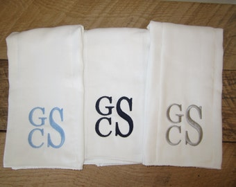 Monogram Burp Cloth Etsy