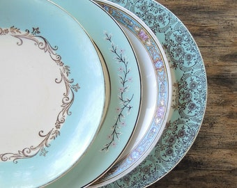 Mismatched Bread Plates for Wedding Set of 4 Dessert Plates Bridesmaid Luncheon, Tea Party