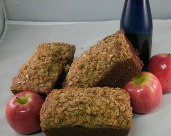 Apple bread, 8 Loaves Homemade bread, Moist & Delicious Apple bread Get 8 Breads FREE SHIPPING