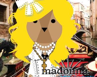 Madonna, sticker 3.9 x 3.9 in