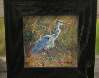 Nissequogue Great Blue Heron (original oil painting)