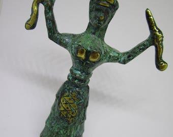 """Minoan Snake Serpent Goddess of Crete Ariadne Knossos Handmade (13cm 5.12"""")"""