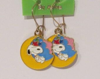 Vintage Snoopy Dangle Earrings by Aviva