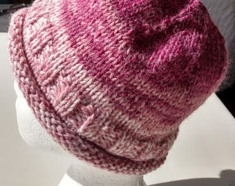 Women's Heather Rolled Brim Knitted Hat