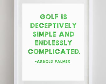 Golf Quote Watercolor Art Print