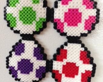 Mario Yoshi Eggs Perler Beads