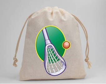 Lacrosse, Birthday Party, Lacrosse Birthday, Party Bags, Muslin Bags, Candy Bags, Treat Bags, Favor Bags, Bags, Drawstring Bags, Set of 5