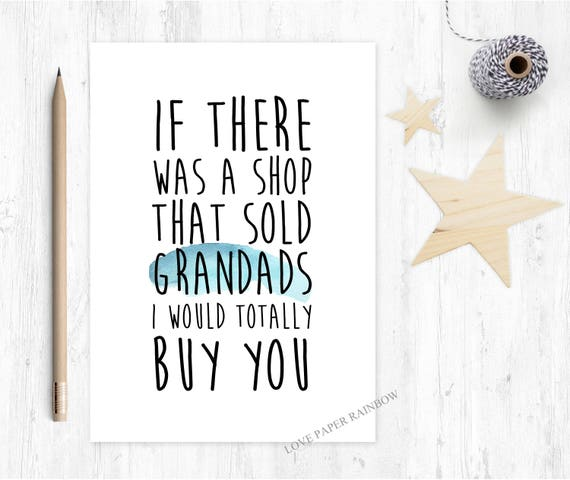 grandad card, you're going to be a grandad, funny grandad card, thanks grandad, grandad quote, best grandad, grandad birthday card