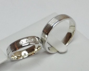 Wedding rings partner rings engagement rings wedding rings Silver 925 noble SR134