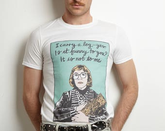 The Log Lady of Twin Peaks White T-Shirt