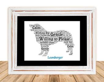 Leonberger, Leonberger art, Custom, Personalize, Pet Gift, Gifts Under 25, Dog Art, Pet Art, Pet Memorial, Custom Dog