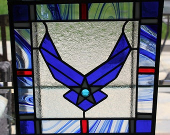 stained glass Air Force  Panel