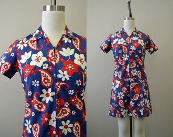 1960s Miss Smith Paisley Scooter Dress