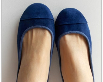 LUNAR- Ballet Flats -Suede Shoe-Cobalt Blue size 38 Available in other sizes see below