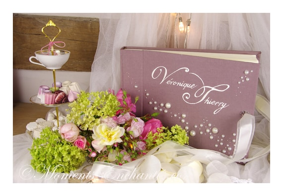 Wedding Album photo mariage  souvenirs pearls  wedding baby shower guestbook scrapbooking hand painting