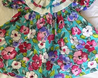 Vintage Kalula Kids Floral Print Dress