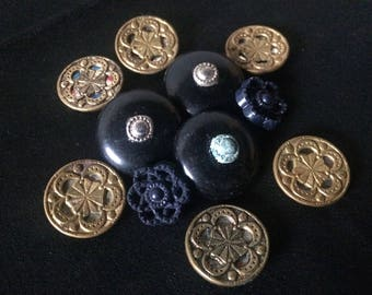 Vintage Buttons Lot of 3 sets