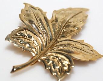 Large Gold Leaf Barrette