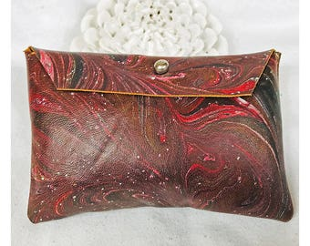 marble dyed leather pouch 9