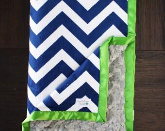 Custom Minky Blanket, Blanket for Men, Seahawks blanket, seahawks minky, NFL blanket, Adult minky, Seattle blanket, Lime green and blue