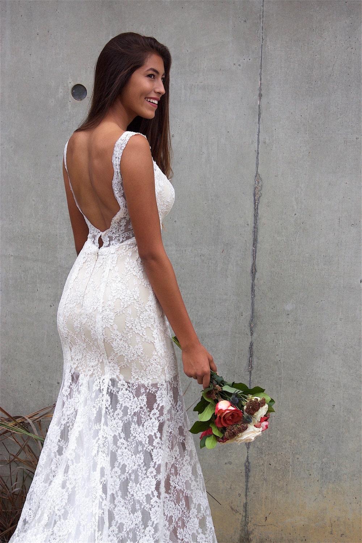Strand Hochzeit Kleid / rückenfreies Kleid/Böhmisch niedrigen