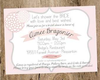 Floral Bridal Shower Invitation- Printable