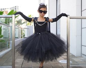 Audrey Hepburn Dress - Breakfast At Tiffany's - Audrey Hepburn tutu dress - Little Black Dress - Party Dress for Girl - Halloween Tutu Dress