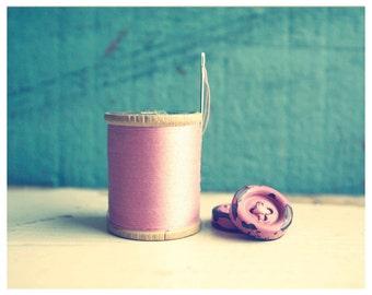 SALE Vintage Pink Notions - Fine Art Photograph