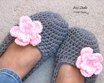 Extra Thick, Crochet Women Slippers , Accessories, Adult Crochet Slippers, Home Shoes, Crochet Women Slippers