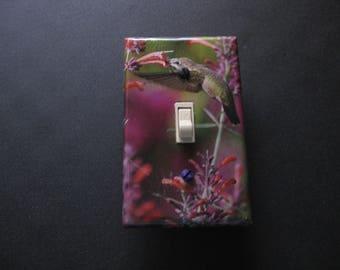 Decorative Light Switch Cover (Hummingbird)