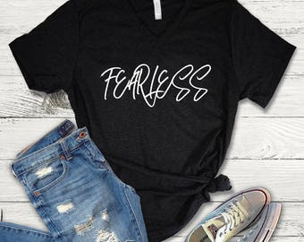 Fearless Tee Shirt, Fearless V-Neck, Fearless