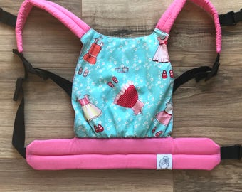 Pink and Blue Dresses Baby Doll Carrier