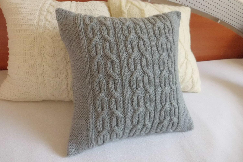 Benutzerdefinierte grau dekorative Zopfmuster Kohle stricken