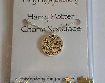 Harry Potter inspired spells Charm Necklace