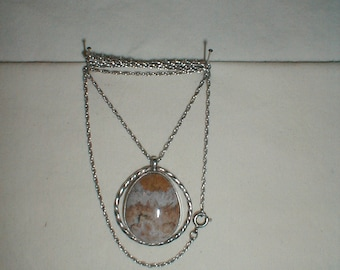 Mexican Lace Necklass, Sterling Silver