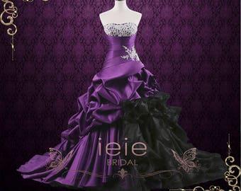 Unique Strapless Purple Ball Gown Wedding Dress   Viola
