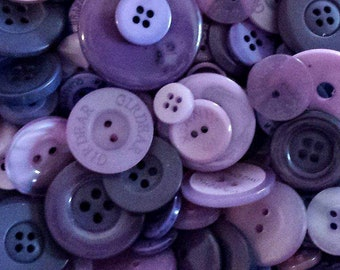 50 Purple Buttons - Mixed Button Sizes - Sewing Buttons - #DSP-00001