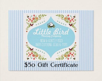 Fifty (50) Dollar Gift Certificate