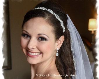 Wedding Headpiece, Bridal Headpiece, Wedding Tiara, Rhinestone Bridal Headband, Crystal Headband, Jeweled Wedding Headband, No. 5050HB, SALE