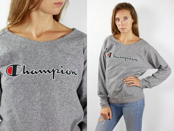 Champion Sweatshirt Grey Champion Sweater 90s Champion 90s Sweater Champion Sweat Shirt Oversize Sweat Shirt Grey Sweater Jumper Champion