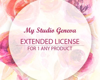 Extended License for Commercial Use, Applies for a single product