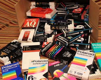VHS Video Tapes Used ~ Lot of 30 ~ Various Brands ~ T-120 & T-160 ~ Recorded TV Programs/Movies ~ Labeled Contents ~ Sold As Blanks