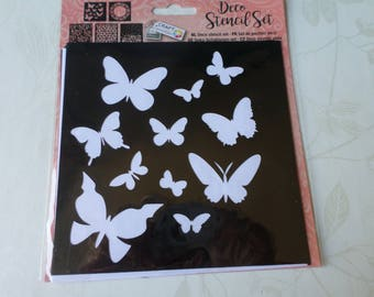 x 1 reusable set of 5 mixed stencils in 5 different designs