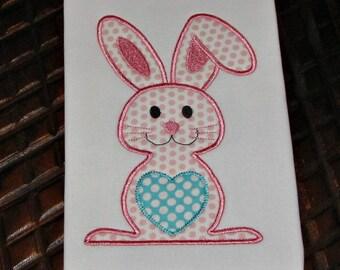 Easter Bunny Applique Design Embroidery
