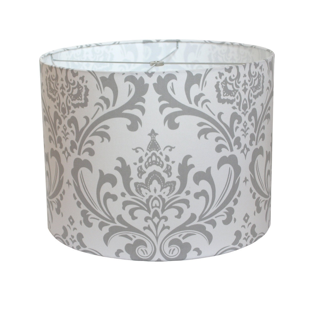 Lamp shade lampshade traditions by premier prints storm gray zoom aloadofball Choice Image